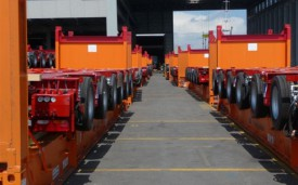 Shipment of heavy duty trailers from Antwerp to Houston