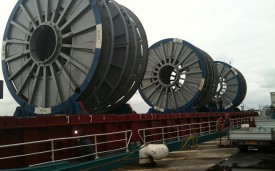 Shipment of 3 reels from Le Trait to Newcastle