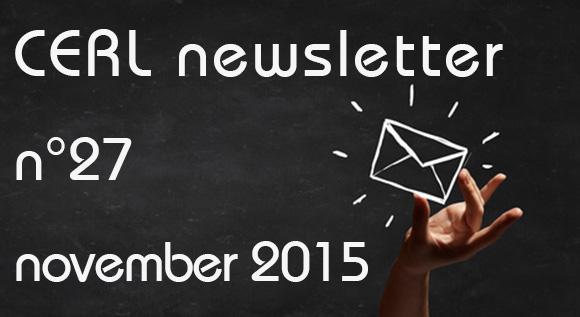 CERL newsletter november 2015