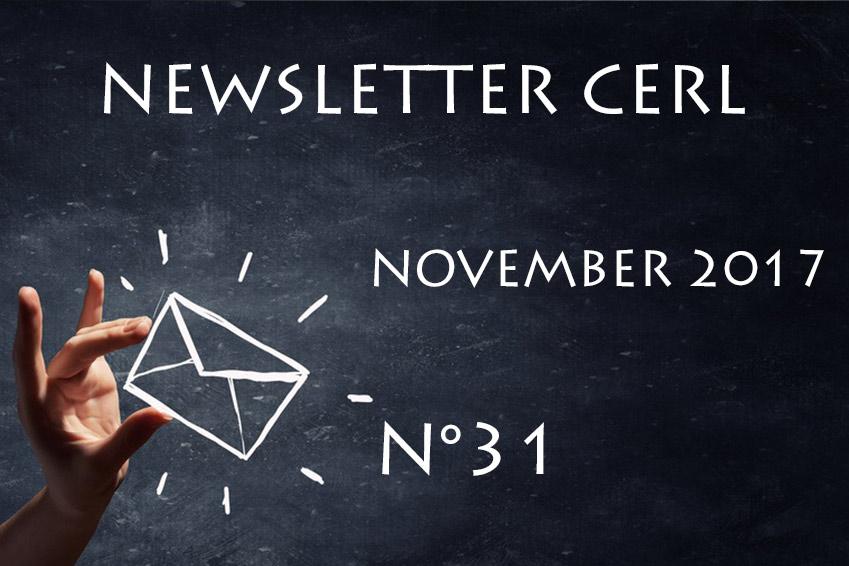 CERL Newsletter transport November 2017 - N°31