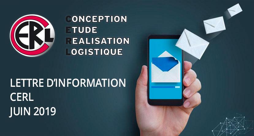 Lettre d'information CERL - Juin 2019
