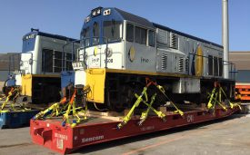 Transport of 4 locomotives from Spain to Madagascar