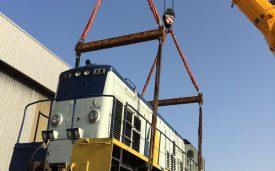 Chargement de 4 locomotives de 56 tonnes