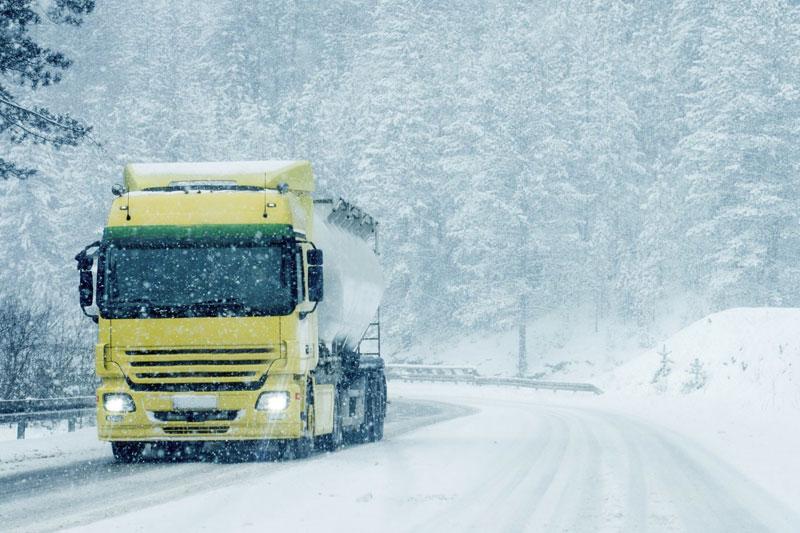Transport routier pneus hiver